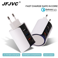 EU US UK 3 USB Charger Universal Fast Charge QC 3 0 Mobile Phone Adapter Quick