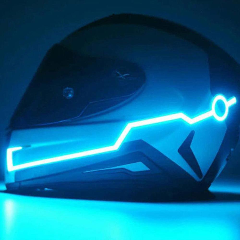 Мотоцикл Ночной езда холодный светильник сигнал водонепроницаемый прочный шлем мото комплект мигающая полоса СВЕТОДИОДНЫЙ светильник све...