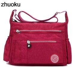 ZHUOKU Luxury Women Messenger Bag Waterproof Nylon Shoulder Bags Ladies Bolsa Feminina Travel Bag Women's Crossbody Bag
