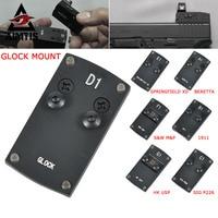 Optics Beretta 92 Glock 17 19 20 22 1911 Pistol Reflex Sight Mount Adapter Plate for Sightmark Burris Vortex Micro Red Dot Scope