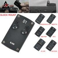 Optics Beretta 92 Glock 17 19 20 22 1911 Pistol Reflex Sight Mount Adapter Plate For