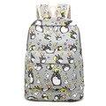 2017 novas Mulheres da moda Mochila Totoro 3D impressão viagem softback mulheres espaço notebook mochila mochilas meninas Da Escola mochila