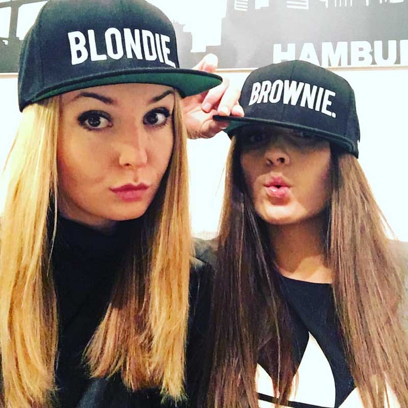2018 BLONDIE BROWNIE Embroidery Hot Sale Snapback Hats Baseball Caps Hip-Hop Adjustable Gorras cotton girlfriend Women Gifts ...