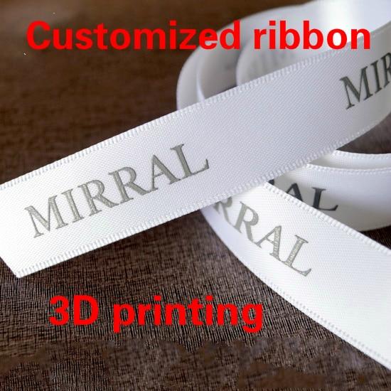 10yards DIY Handmade Word Gift Wrap Grosgrain Ribbon Packing Belt Sewing Labels