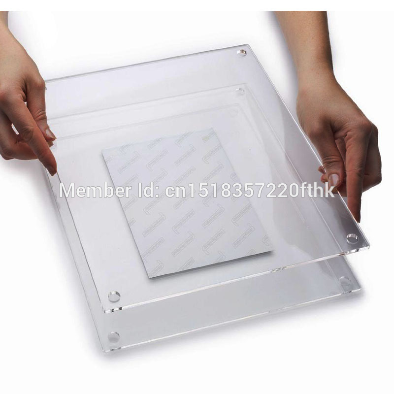 A3 Double Panel Wall Mounted Floating Acrylic Picture Frame for A3 ...
