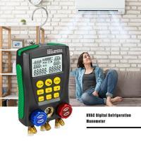 DY517 Pressure Gauge Refrigeration Digital Vacuum Pressure Manifold Meter Temperature Tester Leakage Monitor 0 Kpa~6000 Kpa