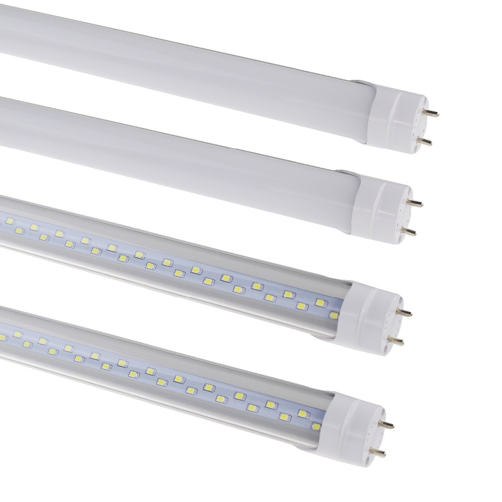 G13 T8 Led 4 Ft 4ft 12m Double Row Tube Light 4feet Replace Bulb Fluorescent Fixture Wiring Diagram Smd 2835 Ac85 265v Cold White In Bulbs Tubes From