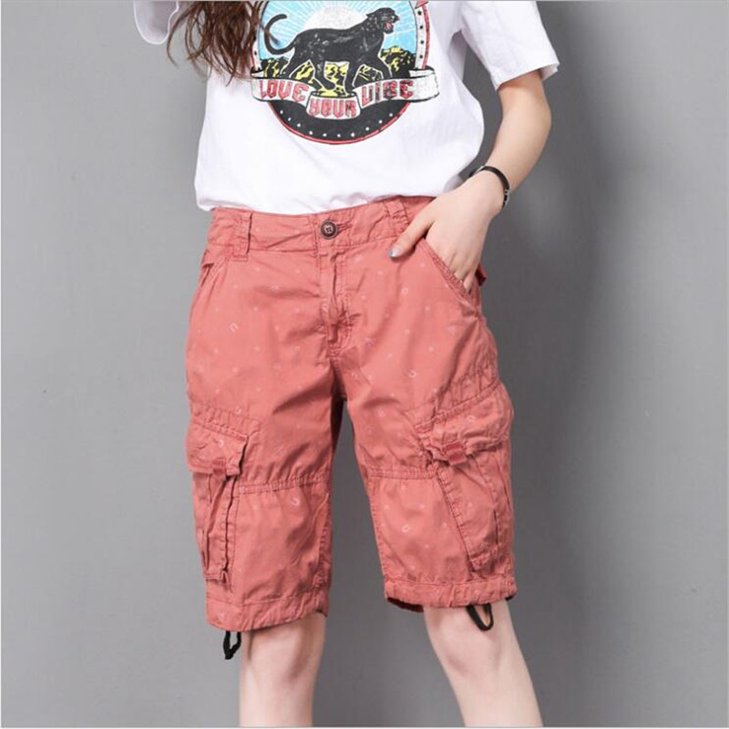 Cargo Women Pants Multi-Pocket High Waist Pants Feminino Simple Zipper Pants Women Summer High Waist  Plus Size A5616