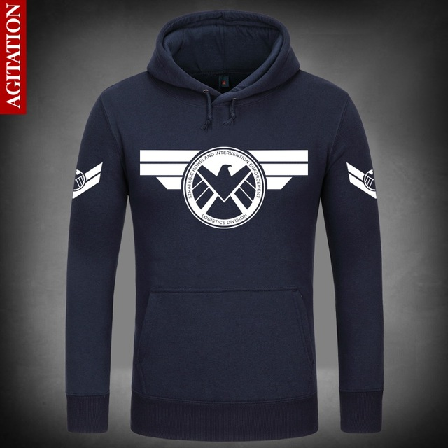 Marvel's Agents of Shield S.H.I.E.L.D. logo unisex pull over hooded sweatshirt/hoodie oDV0jW
