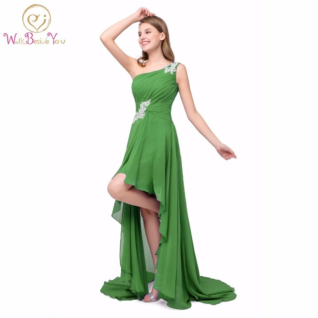 100% Real Images Prom Dresses Short Front Long Back Women cheap Long ...