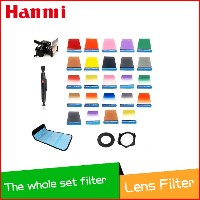 New 9 Size Metal Adapter Ring + 24 Filter ND2 ND4 ND8 G.ND2 4 8 For Cokin P + 2 Holder 1Hood+ 4 6-slot Cases Cloth Lens Pen
