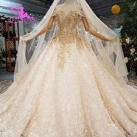 AIJINGYU Королевский свадебное платье Доступное Свадебные платья в цвета слоновой кости Роскошные магазин викторианской новые тюль