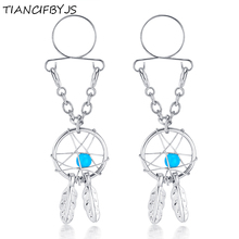TIANCIFBYJS Dream Catcher Sexy Non Pierced Nipple Piercing Clip On