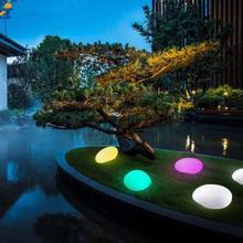 Светодиодный перезаряжаемый галька, лампа, водонепроницаемый RGB, ландшафтный свет, дорожка, наружный газон, садовый сад, дорожка, декоративная лампа X
