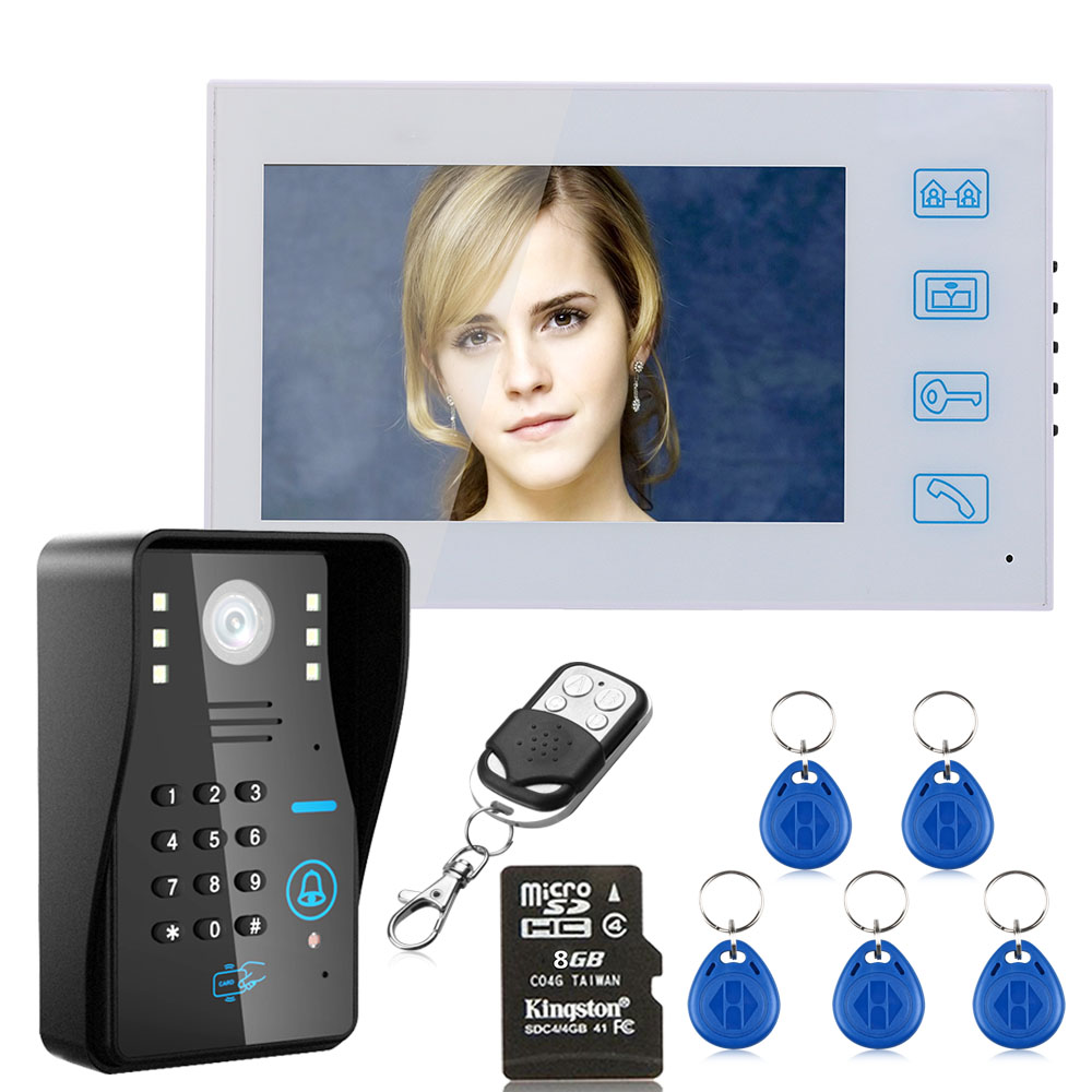 MAOTEWANG  7 Recording RFID Password Video Door Phone Intercom Doorbell With 8G TF Card Night Vision Security CCTV Camera Home MAOTEWANG  7 Recording RFID Password Video Door Phone Intercom Doorbell With 8G TF Card Night Vision Security CCTV Camera Home