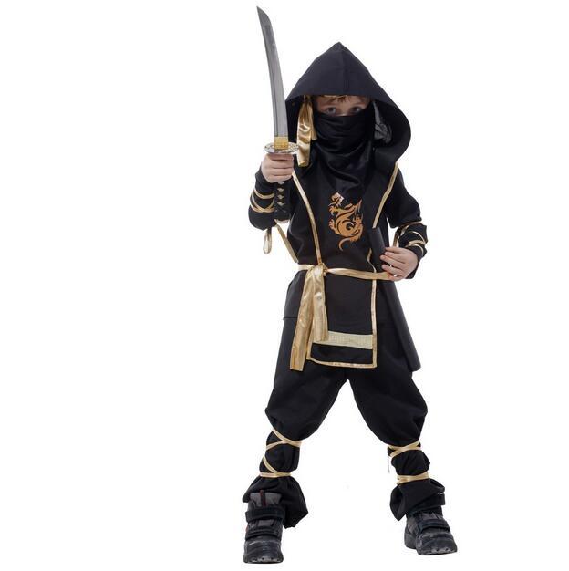 ФОТО Christmas Gift !110-150 CM Children Boy Martial Ninja Cosplay Clothing Warrior Stage Suit Kids Swordsman Costume Christmas Suit