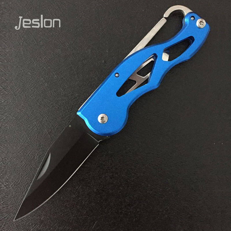 Jeslon Multifunction Portable Pocket Survival Rescue Folding Knife Camping Mini Peeler Keychain Tactical Hunting Outdoor Tools