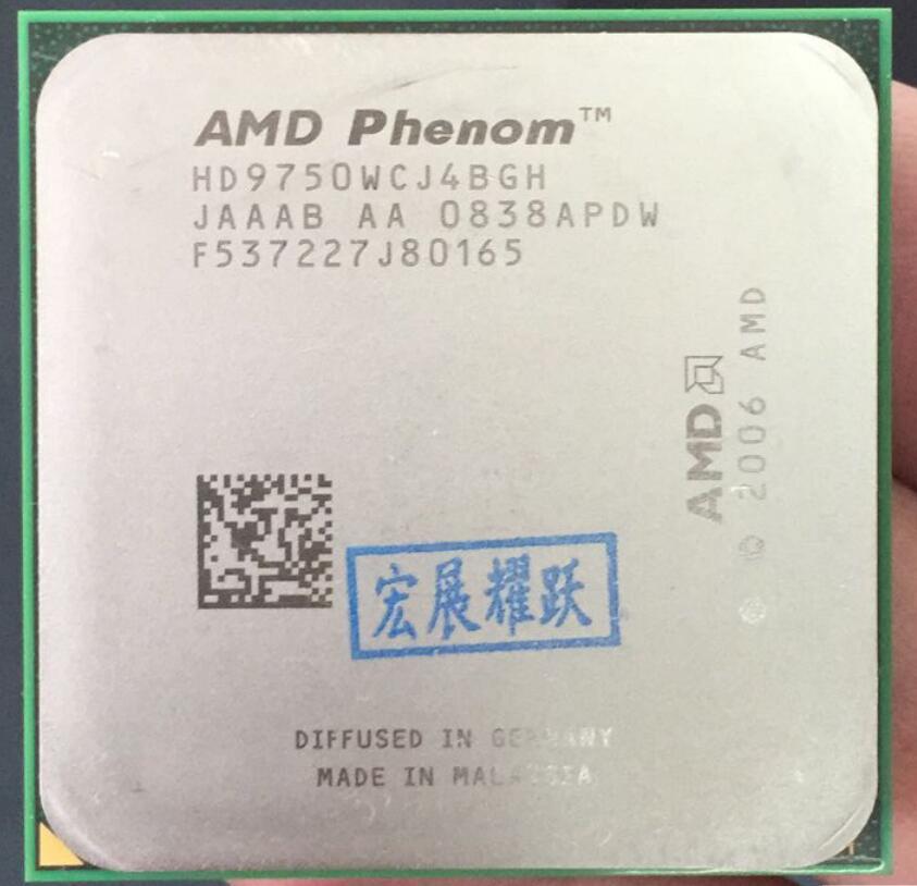 PC ordinateur AMD Phenom X4 9750-HD9750WCJ4BGH 95 W CPU 940 AM2 + 100% fonctionne correctement De Bureau Processeur