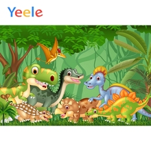 Yeele Dinosaur Party Cartoon Backgrounds Wall Photography Baby Child Portrait Scene Photographic Backdrop Vinyl For Photo Studio