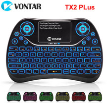Vontar TX2 Plus Air Mouse Qwtrey Keyboard 2.4G Wireless Mini Keyboard Touchpad Terbang Mouse dengan Backlit Android TV Box x96mini X96(China)