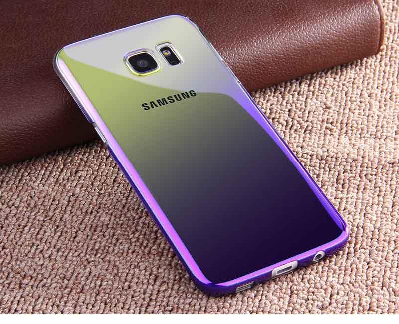 Kolorowe case do samsung galaxy s7 edge s8 plus s8 case gradientu kolor pc mocno plecy pokrywa dla samsung s8 s7 krawędzi case artisome 17