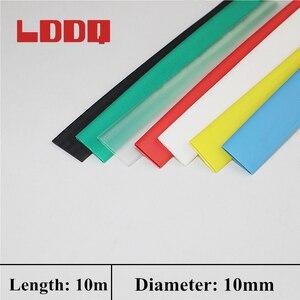 LDDQ 10m Heat Shrink Tubing Tube Sleeve wrap Wire Inner Diameter 10mm PE Shrinkable Tubing Effective Insulation Best Promotion