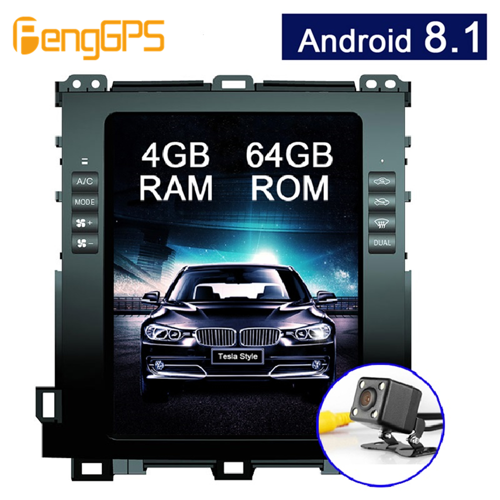 6 Core Android 8 1 Car GPS Navigation DVD Player for Lexus GX470 Toyota Land Cruiser