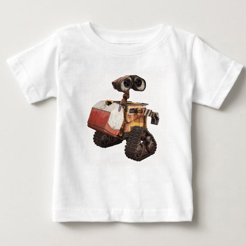Animatie Robot Leuke Muur E T-shirt Katoen Fashion Brand T-shirt Kids Nieuwe Hoge Kwaliteit Zomer Baby Boy T-shirt Mj
