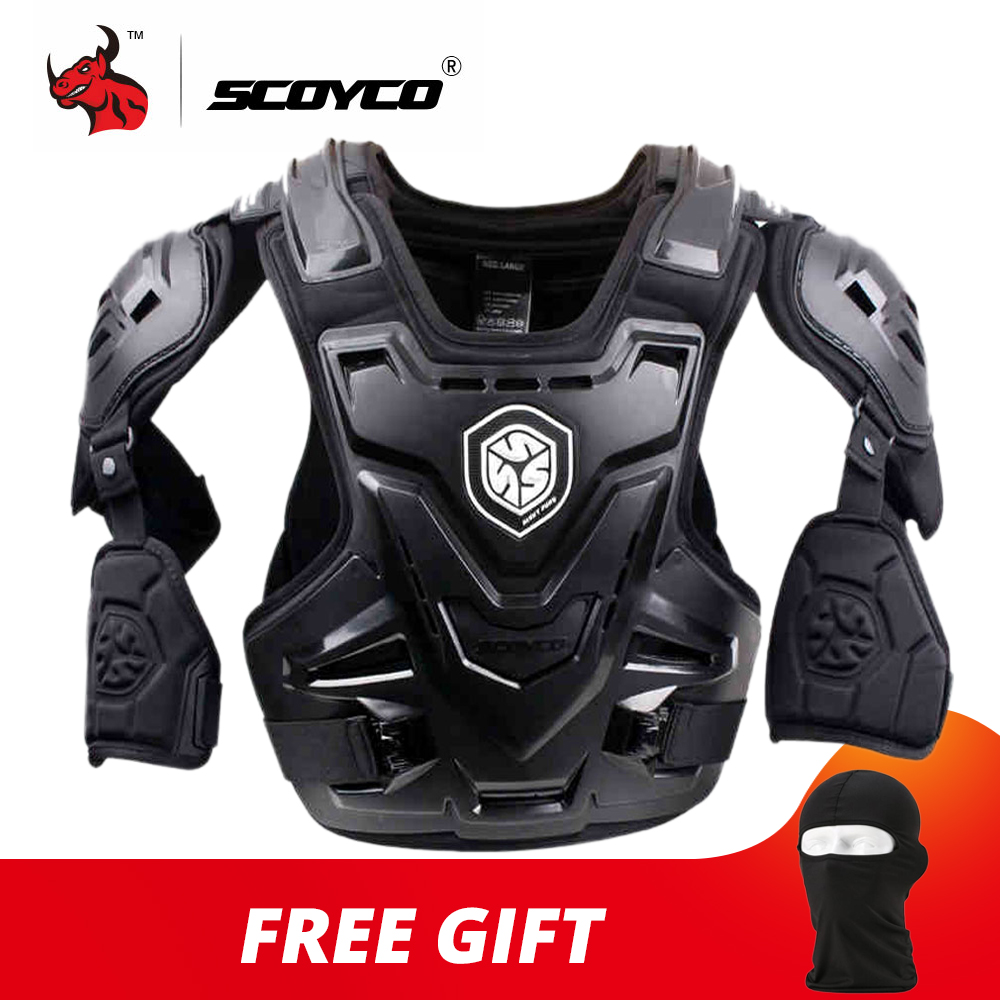 SCOYCO CE Motorcycle Armor Motocross Chest Back Protector Armour Vest Motorcycle Jacket Racing Protective Body Guard