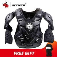 SCOYCO CE мотоциклетная броня для мотокросса, защита груди и спины, защитный жилет, мотоциклетная куртка, гоночная Защитная Защита тела, MX Armor