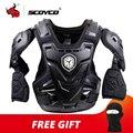 SCOYCO CE мотоциклетное снаряжение для мотокросса, грудь, задняя защита, бронежилет, мотоциклетная куртка, гоночная Защитная защита для тела, MX ...