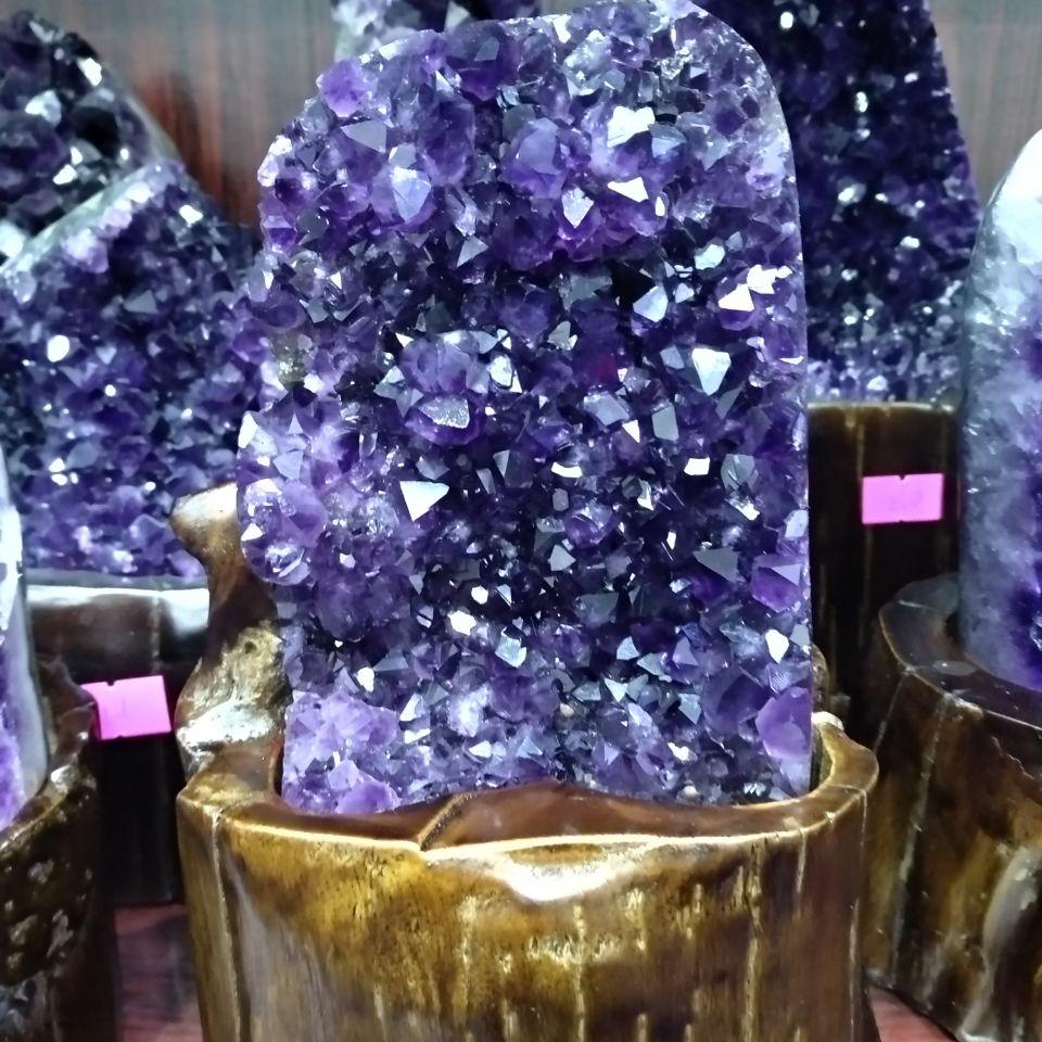 Amethyst Quartz Cluster Uruguayan Crystals Gemstones Geodes Minerals in Stones from Home Garden