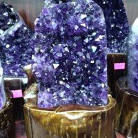 Amethyst Quartz Cluster Uruguayan Crystals Gemstones Geodes Minerals