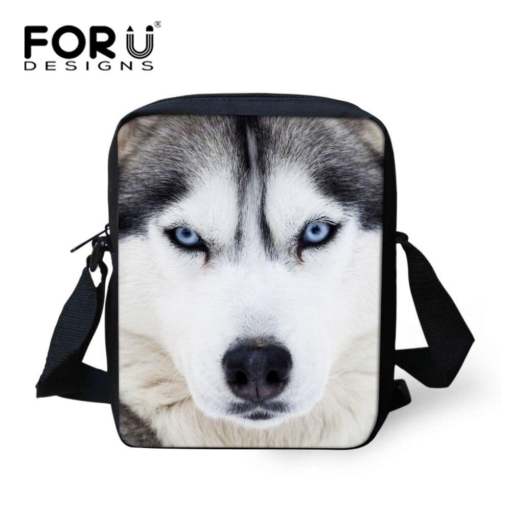 FORUDESIGNS Funny Animal Husky Dog Children School Bag Cute Print Child Kids Schoolbag White Mochila Girls Kindergarten Book Bag