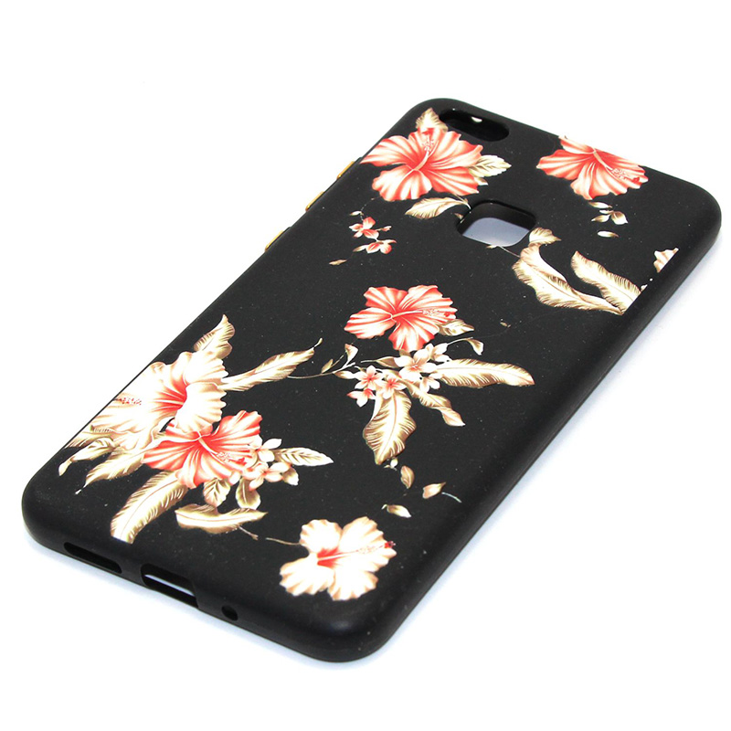 3D Relief flower silicone huawei P10 lite (31)