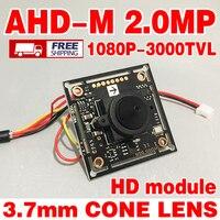 Free Shipping 3000TVL 1920 1080P 3 7mm Cone AHD P CCTV HD Mini Camera Chip Module