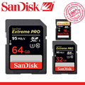 SanDisk Extreme PRO SD card 64GB 32GB 16GB 128GB 256GB  SDHC SDXC UHS-I High Speed Memory Card 256GB Class 10 95MB/s for camera