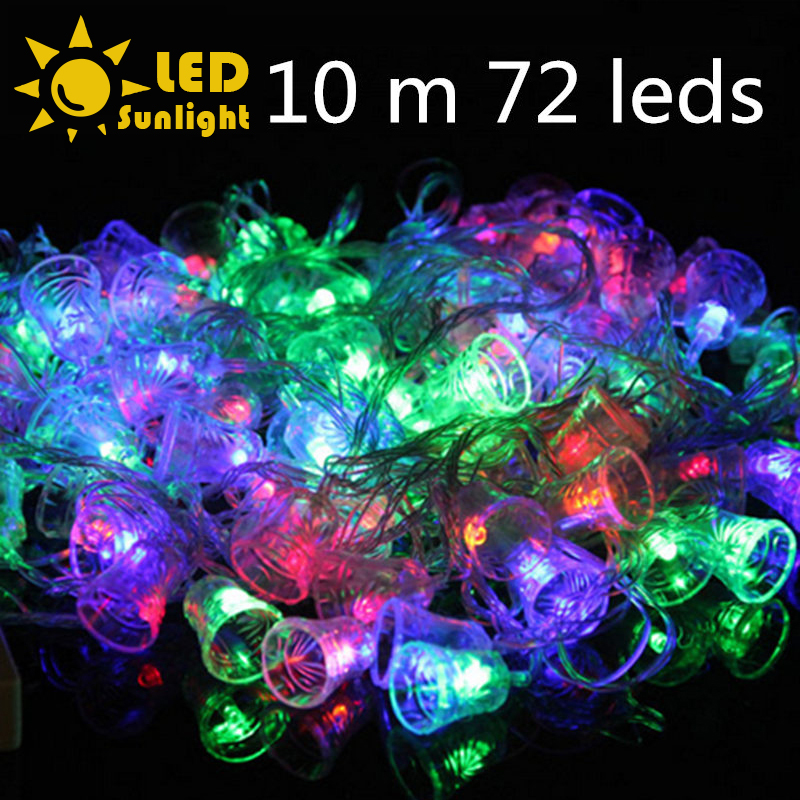 Led Outdoor Christmas Lights Reviews: With Controller EU plug Unique LED Christmas light string 72 pcs/10m Outdoor  Decoration Christmas tree light Party Twinkle light,Lighting
