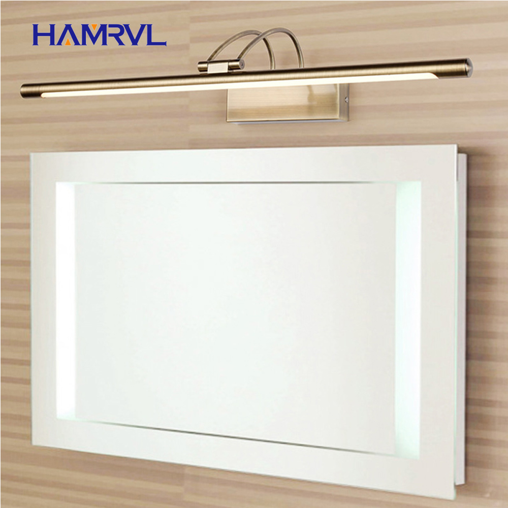 Indoor Wall Light with Swing arm in Bathroom Amazing Modern LED Mirror switch Over Picture ing Fixtures plated alloy home living
