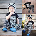 New Arrival Baby Boys Kids Summer Sets Short Sleeve T-shirt Tops+Pants 2pcs Children Sets Outfits Summer Clothes Set 1-5Y