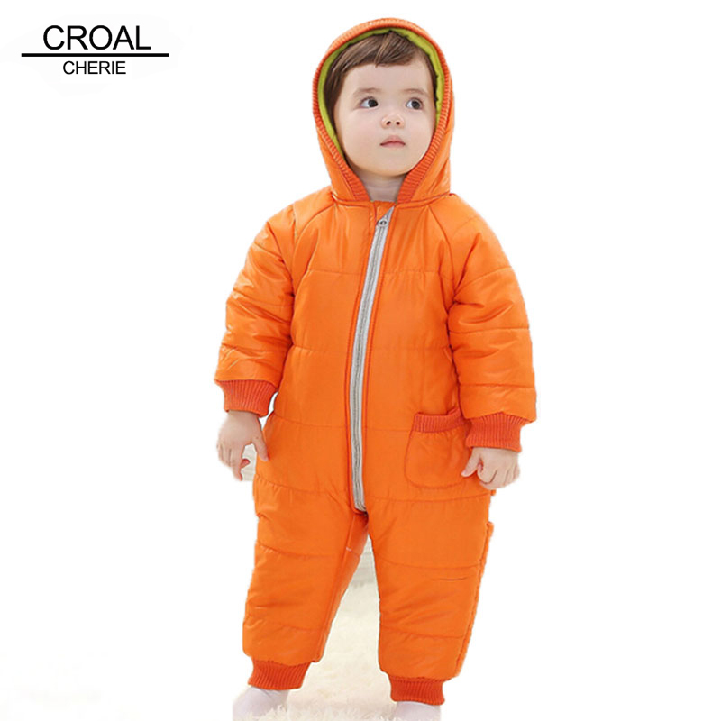 9-24Months Baby Winter Clothes Girl Boy   Romper   Warm Baby Winter Jumpsuit Skiing Outerwear Clothing Colorful Snowsuit