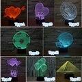 Mágico increíble Ilusión Óptica 3D Noche de Luz LED USB Mesa De Luz Para El Partido Dormitorio Bebé Atmósfera Luces Con Touch Botton