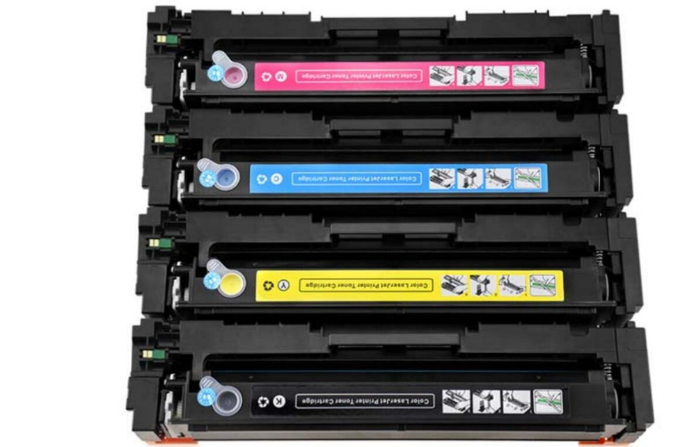 4pc New compatible 203a laser Toner Cartridge for HP CF540a CF541a CF542a CF543a M254dw 254nw MFP
