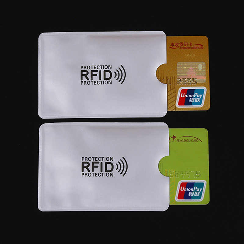 5pc/lot Anti Rfid Blocking Bank Card Holder ID Bank Card Case Rfid Protection Metal Credit Card Holder Aluminium