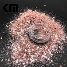 Новая голографическая Лазерная роза Цвет массивный блеск микс порошок пыль конфетти-блестки хлопья для тела лицо волосы искусство вечерние украшения