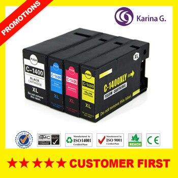 4PCS Compatible For Canon PGI-1400 PGI 1400 ink cartridge for MAXIFY MB 2040//MAXIFY MB 2340/MAXIFY MB 2040 MB2140/MB2740 фото