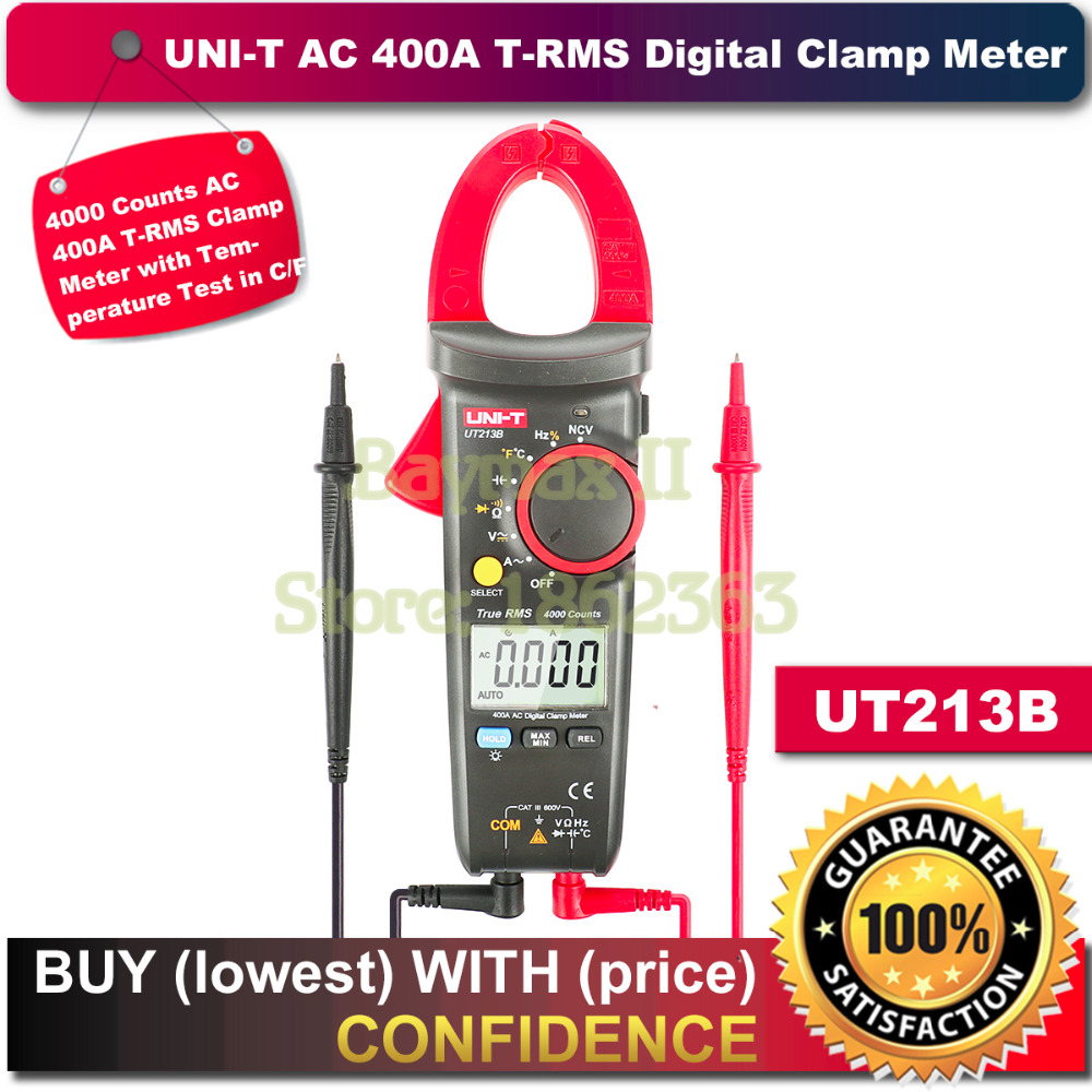 UNI-T UT213B 400A AC Digtial Clamp Meter for AC/DC Votlage, Ohm, Capacitance, Hz Test with Temperautre Measurment in C/F touch screen thermostat electric thermostat room thermostat underfloor heating programmable thermostat 16a v8 716 switch