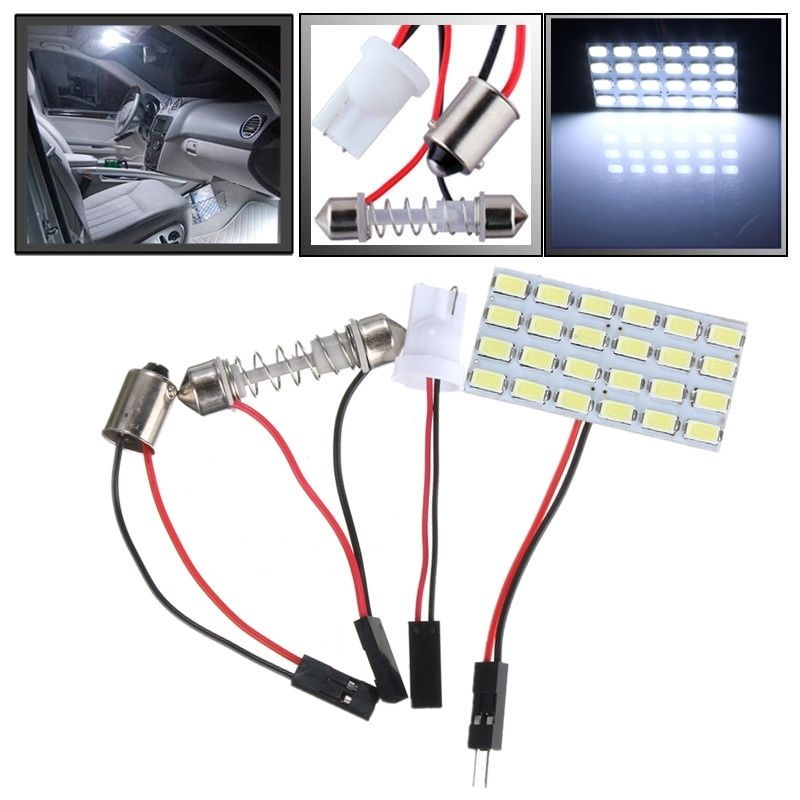 Hot Sale T10 BA9S 5730 SMD 24 LED Light Panel Board Car Auto Interior Reading Map Lights Lamp Bulbs DC12V New Arrivals