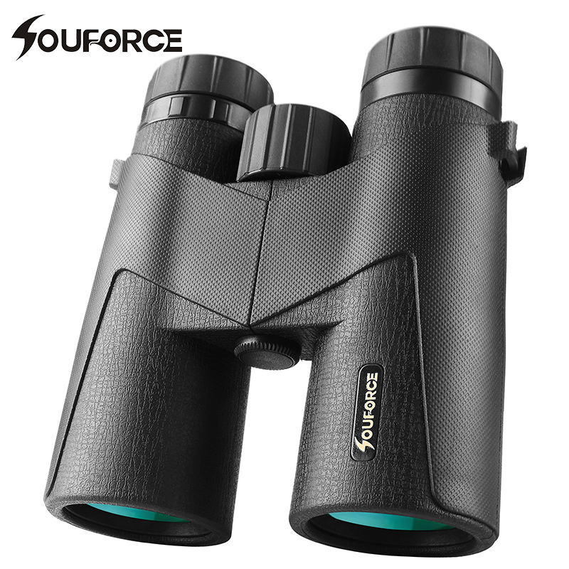 8X42/10X42 Binoculars Telescope Waterproof FMC Multilayer Green Film Professional Hunting Camping for Outdoor Watching 2017 new arrival all optical hd waterproof fmc film monocular telescope 10x42 binoculars for outdoor travel hunting
