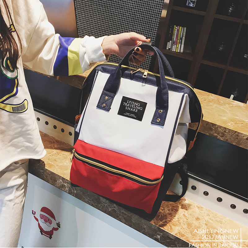 2019 Women Backpack,Casual Best Travel Bag,Japan Ring School Bag Fashion Shoulder Bag For Teenage Girl Rucksack Mochila Bagpack-in Backpacks from Luggage & Bags